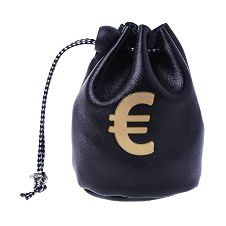 f5dfcc9b55f Lamdoo Small Drawstring Bag Dollar GBP EUR Bags Jewelry Pouch Purse Coin  Case Gift New Black,EUR: Amazon.co.uk: Kitchen & Home