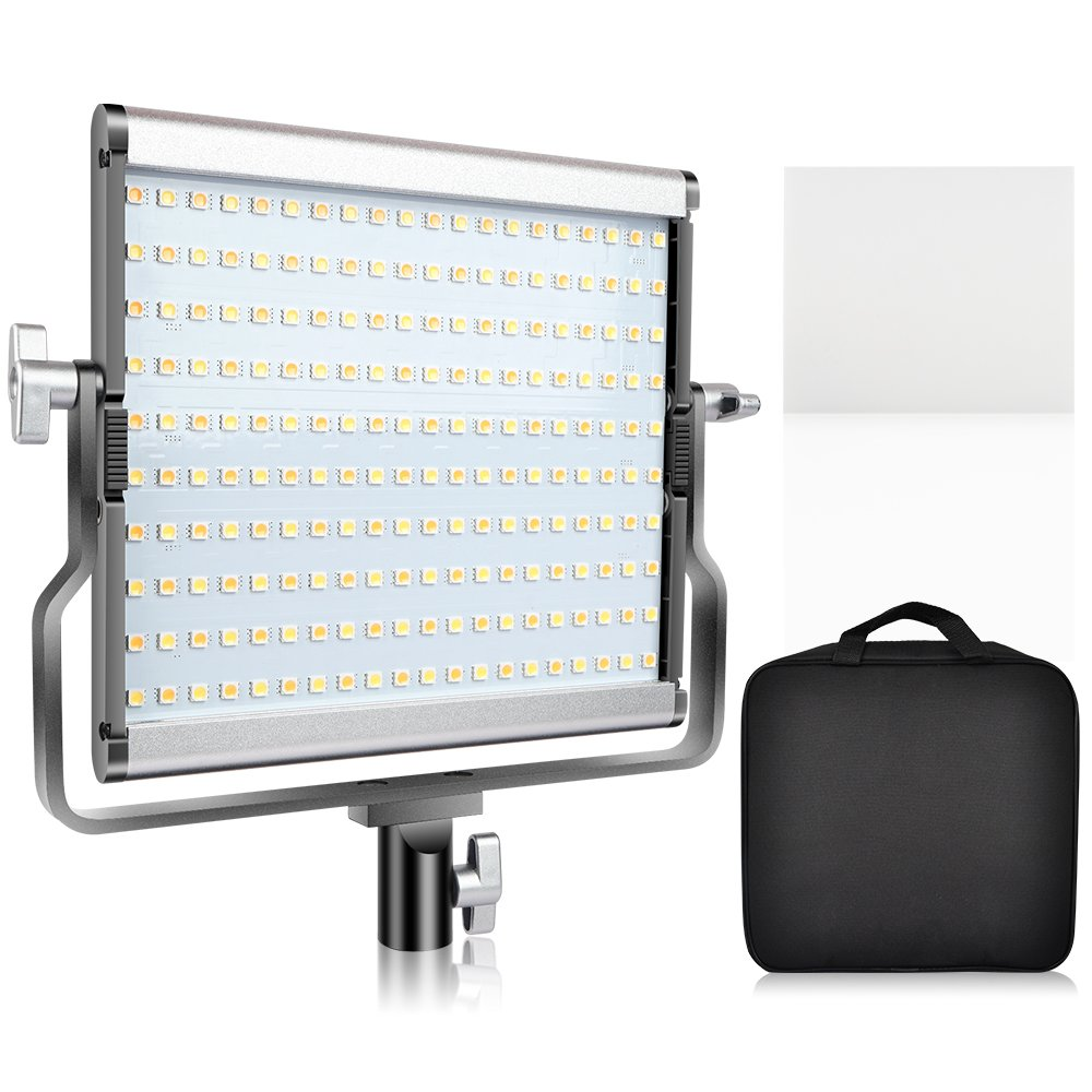 SAMTIAN LED Video Light Bi-Color Studio Lights Dimmable 200 Photography Lighting Kit with LCD Display, U Bracket, 79 Inches Light Stand for Video Professional Shooting, Studio Photography