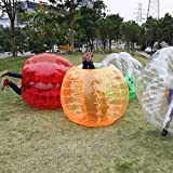 Ancheer Inflatable Bumper Bubble Balls Dia 5FT (1.5m) Human Knocker Body Zorb Ball Bubble Soccer Football (Orange)