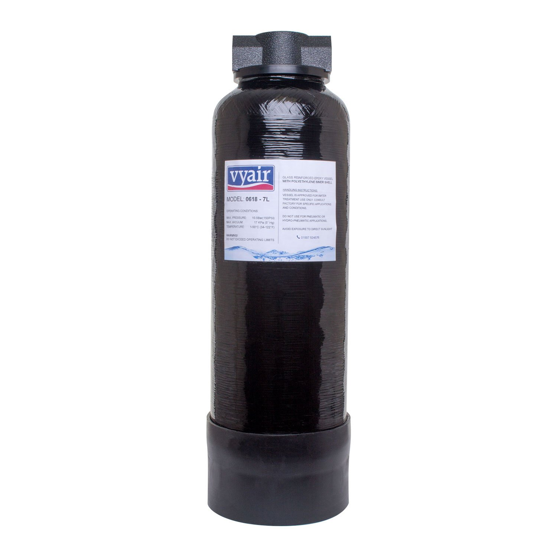 Vyair 0618 Black High Pressure Reinforced Long Life Resin Vessel (7 0 Litre  Capacity) 3/8