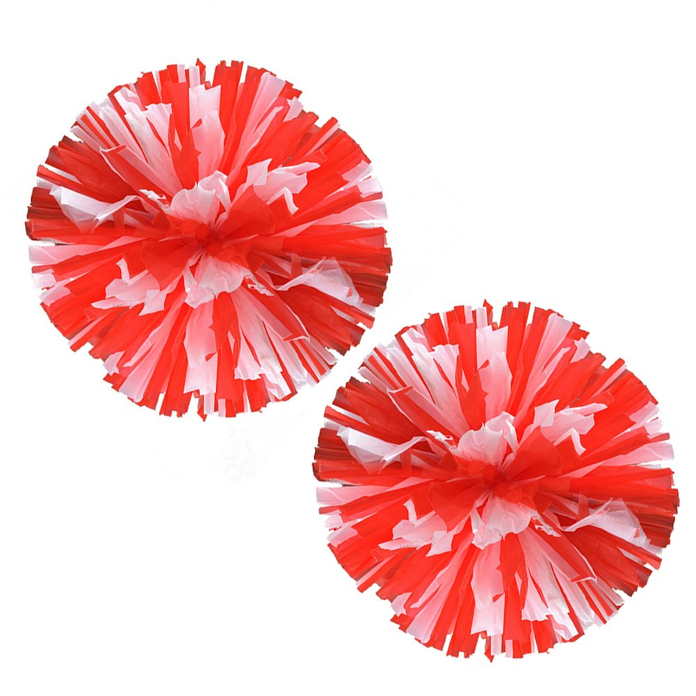 VOBAGA 2 Stück Cheerleader Pompons Cheerleading Pom Poms Kunststoff Plastik mehr Farben vorhanden LL001-11