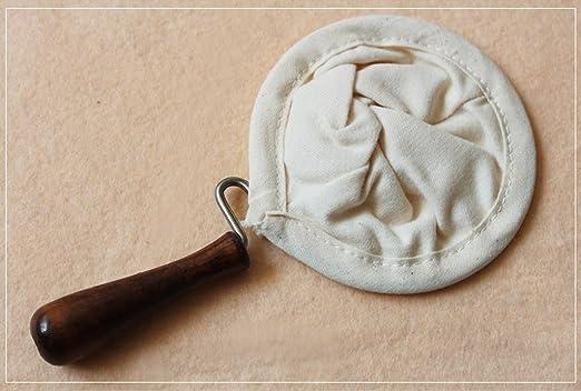Filtro de café de tela de franela, cafetera hecha a mano, filtro de café lavable, con cuello de madera: Amazon.es: Hogar