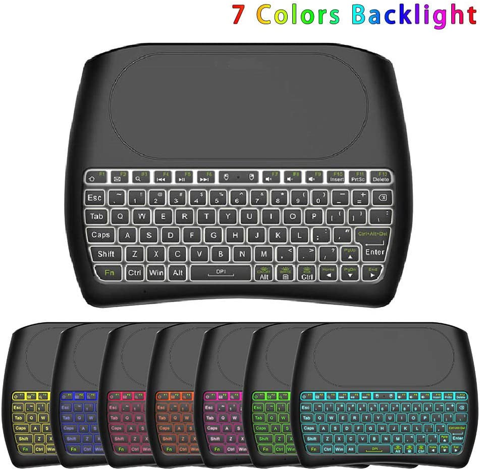 BEESCLOVER D8 Pro Backlight English 2.4GHz Wireless Mini Keyboard Air Mouse Touchpad Controller for Android TV B-OX Creative Lifestyle