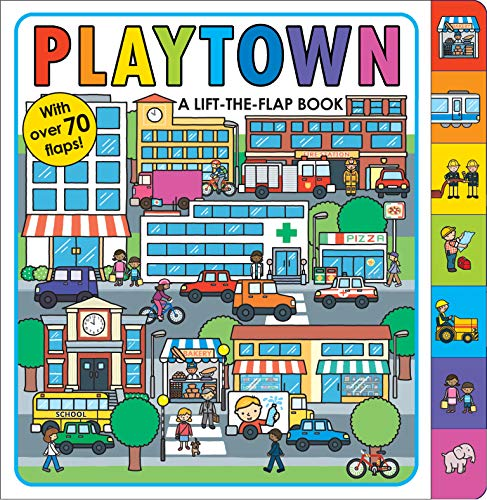 Playtown: A Lift-the-Flap Book (Into The Wild Vocabulary With Page Numbers)