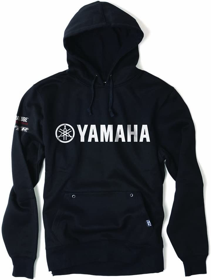 Black, Large Factory Effex 16-88234 YAMAHA Team Pullover Sweatshirt