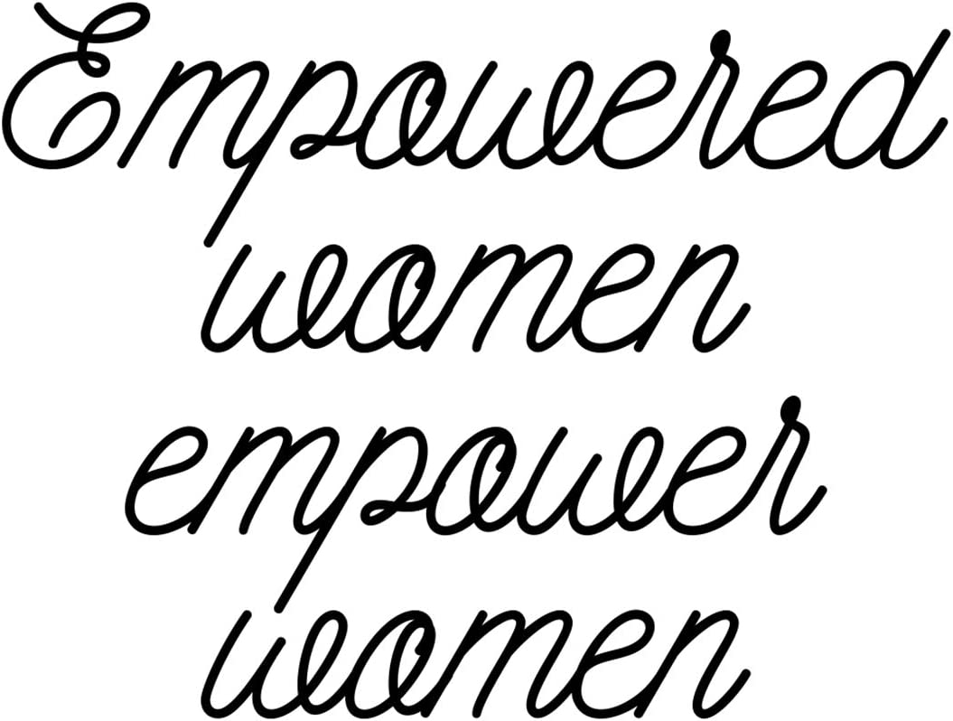"Bargain Max Decals Empowered Women Decal Notebook Car Laptop 5.5"" (Black)"