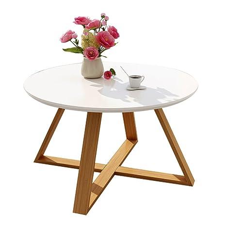 Mesa de café Elegante Mesa Auxiliar/mesita de Centro Mesa de Piedra Redonda Personalizada Mesa de Oficina/Mesa de té Elegante y Durable Durable (Color ...