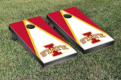 UPC 639767210492, NCAA Triangle Wooden Cornhole Game Set NCAA Team: Iowa State University Cyclones