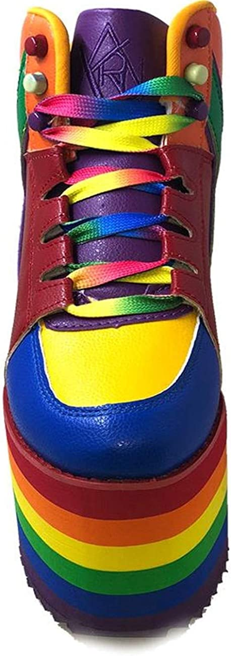 YRU Qozmo Rainbow Pride Platform Red, Rainbow