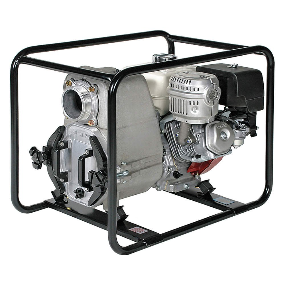 Tsurumi EPT3-100HA Engine Driven Trash Pump with Low Oil Sensor, 11 HP, 3'' Discharge