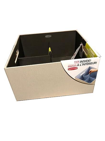 Rubbermaid Bento Storage Box with Flex Dividers (Cube Khaki)  sc 1 st  Amazon.com & Amazon.com: Rubbermaid Bento Storage Box with Flex Dividers (Cube ...