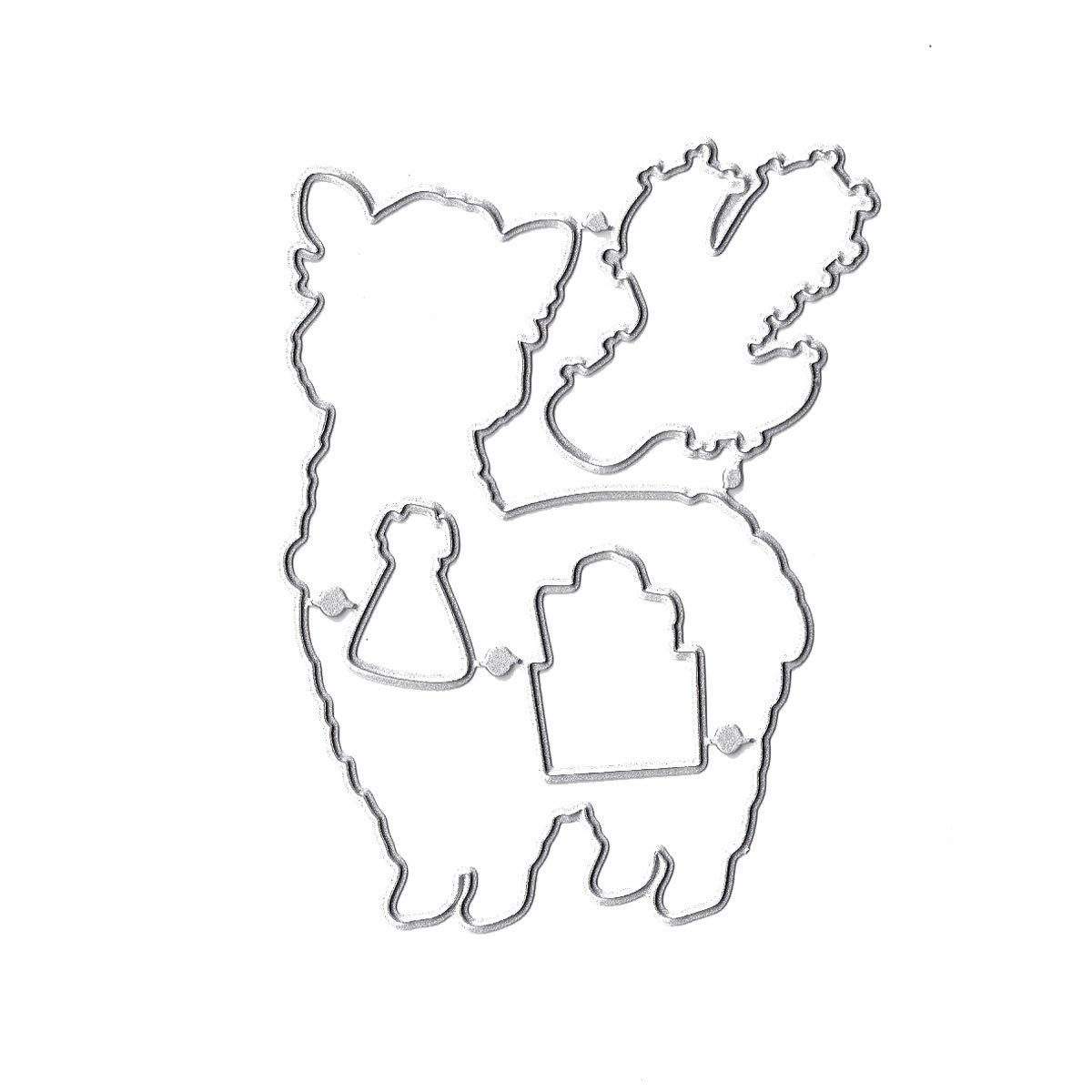 Desert Cactus Alpaca Ea Clear Cling Stamp /& Die Cut Set for Scrapbooking Card Making Bundle-2 Items- Dies Stamp Stencil 1
