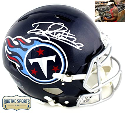 Derrick Henry Autographed Signed Tennessee Titans Riddell Full Size  Authentic NFL Blue Speed Helmet fc5cafc10