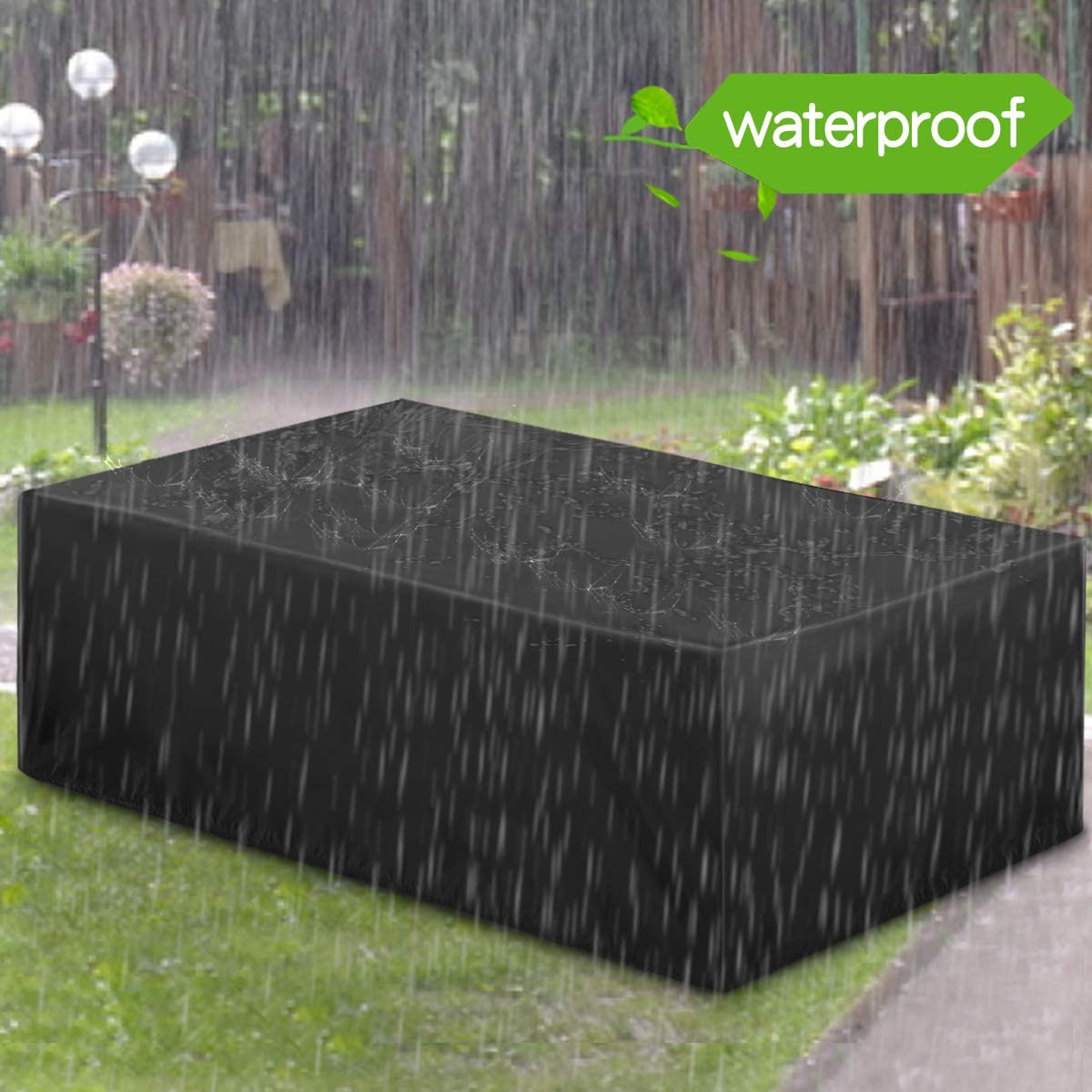 Essort Patio Furniture Covers, Extra Large Outdoor Furniture Set Covers Waterproof, Rain Snow Dust Wind-Proof, Anti-UV, Fits for 8 Seats (78.7x63x27'')