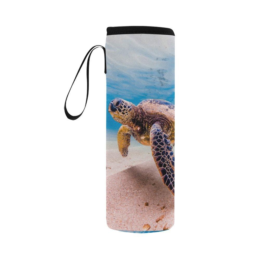 interestprint Underwater Sea Turtleネオプレン水ボトルスリーブInsulatedホルダーバッグ16.90oz-21.12oz、NauticalスポーツアウトドアProtable Coolerキャリアケースポーチカバーwithハンドル B07B2WB29Q