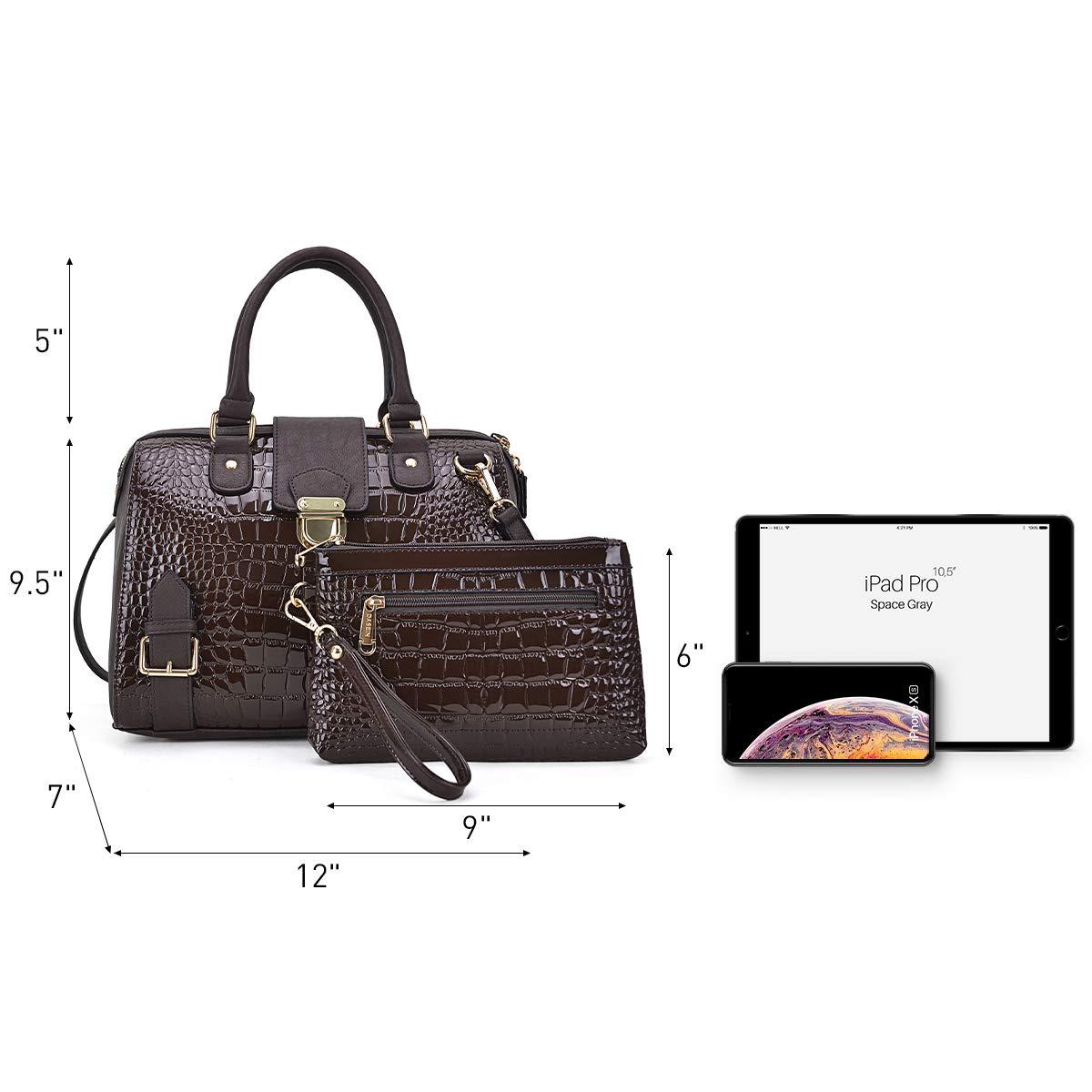 Dasein Women Barrel Handbags Purses Fashion Satchel Bags Top Handle Shoulder Bags Vegan Leather Tote Bags by Dasein (Image #5)
