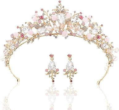 Bridal wedding tiara silvertone pink and lavender