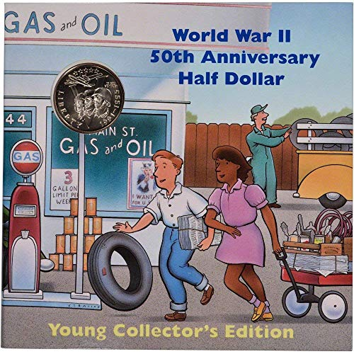 (1993 P US Commemorative BU Half Dollar World War II Young Collector's Edition 50C (1/2) Brilliant Uncirculated OGP)