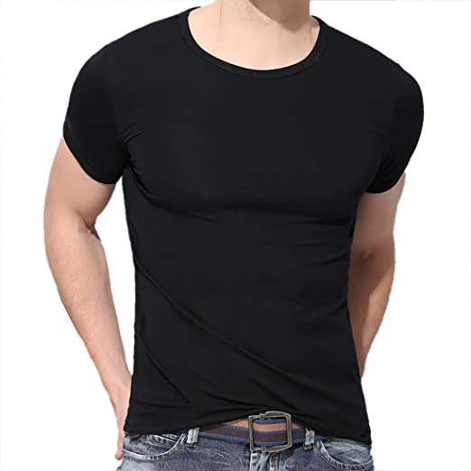 Men Shirt Fit Short Sleeve Casual Shirt T-Shirts Tee Tops S-3XL