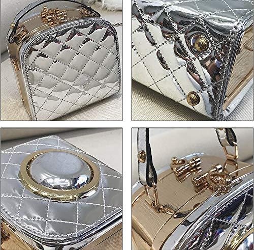 Mzdpp Con Rombica Donna A Da Forma 4 Colori Di Borsa Luminosa Silver Tracolla qrxzUw4q