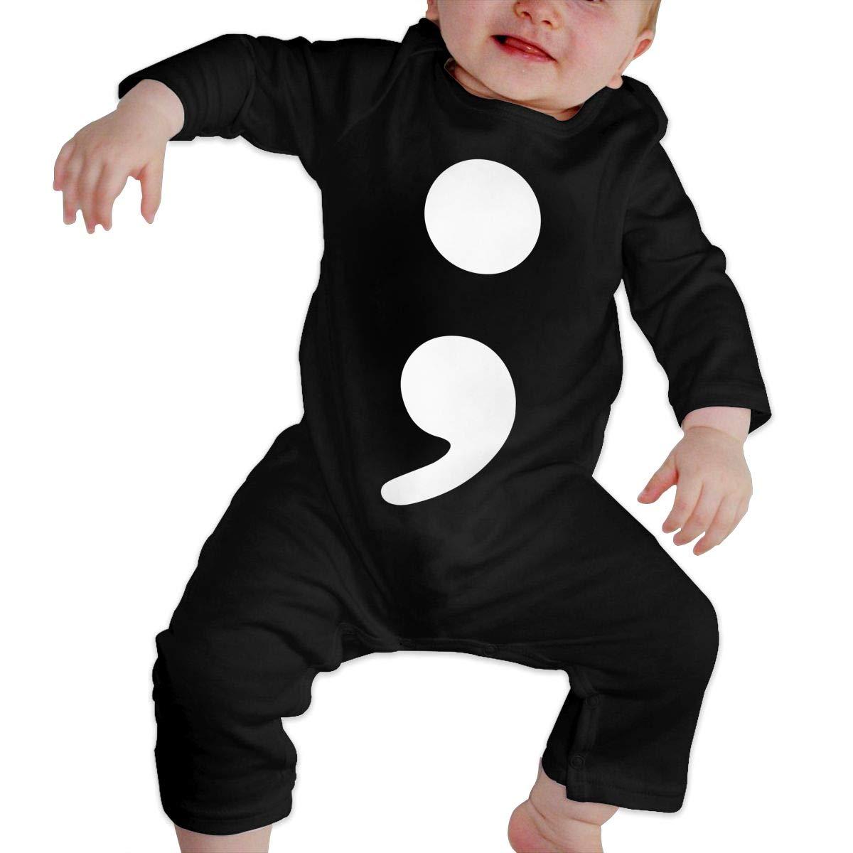 U99oi-9 Long Sleeve Cotton Bodysuit for Baby Girls Boys Fashion Semi Colon Crawler