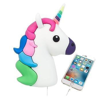 UBMSA Emoji Unicorn Cute divertida PVC de dibujos animados batería externa cargador portátil Pack de copia de seguridad Banco de energía para el ...