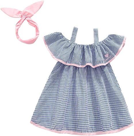 Sanyalei Baby Girls Skirt Toddler Sleeveless Cotton Butterfly Backless Dresses