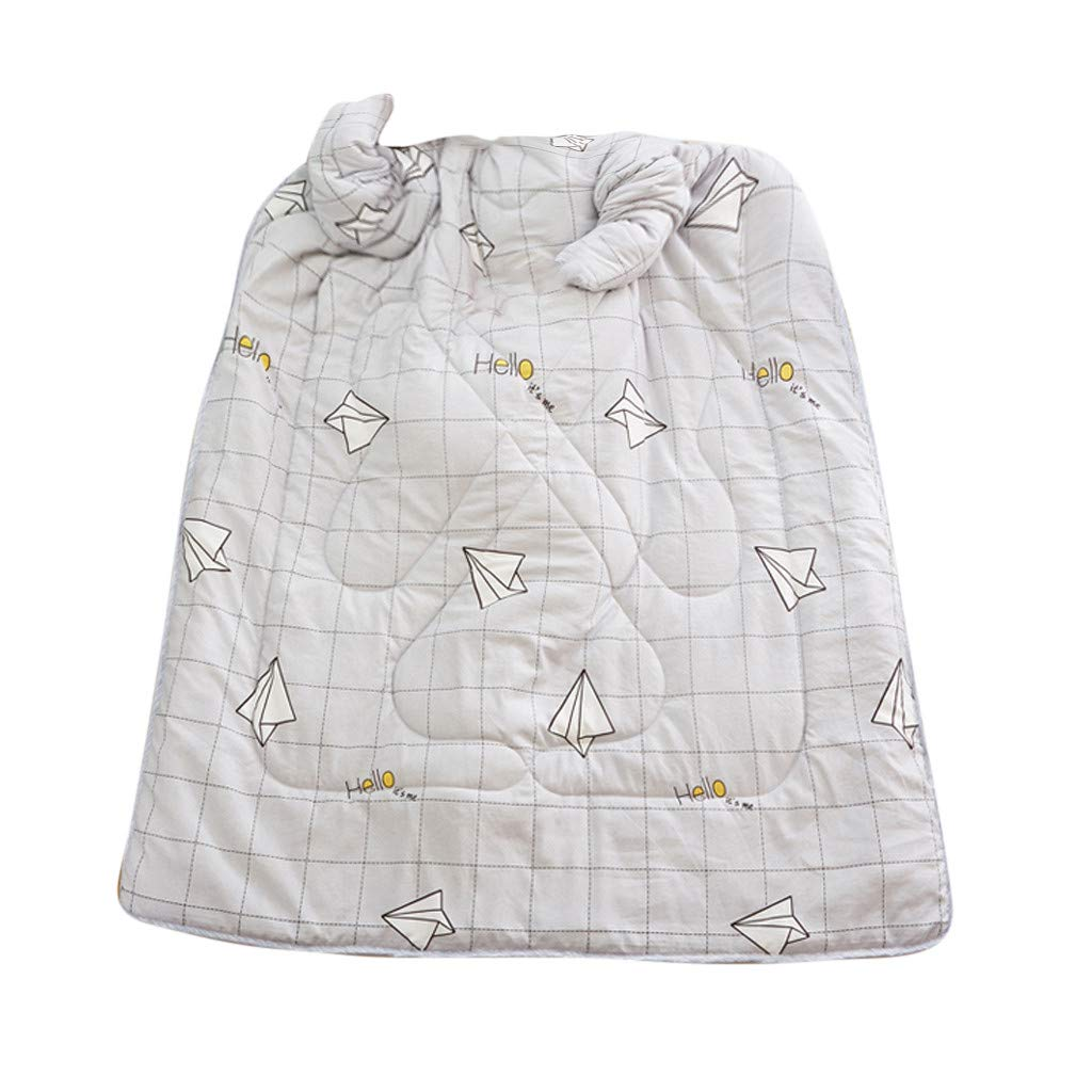 Sonmer Winter Lazy Warm Print Thickened Washable Quilt Blanket, With Sleeves (C)