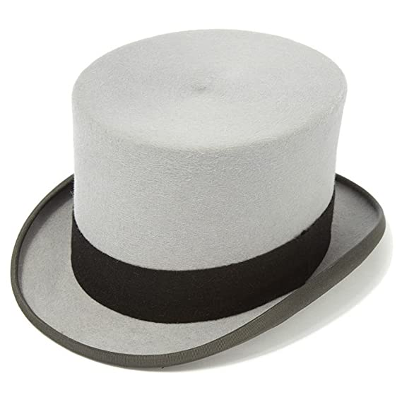Ascot Grey Fur Top Hat Size 7 3 8   60cm  Amazon.co.uk  Clothing e29408649da
