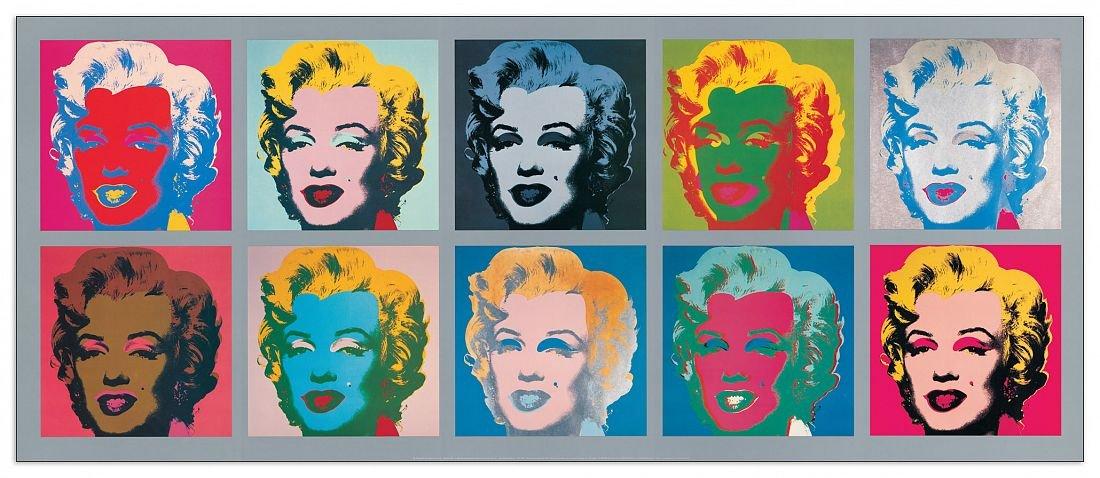 Artopweb Pannelli Decorativi Warhol Ten Marilyns 1967 Quadro, Legno,, 134x1.8x56 cm Eclissi EC18152 stampe; quadri