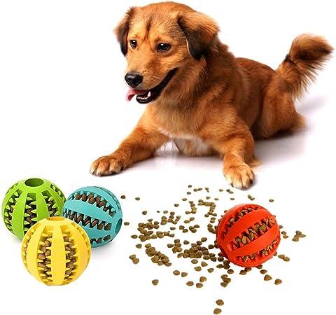 NOBGP 12 Pack de IQ Treat Ball Diversión Juguete Interactivo para Perros de despacho de Alimentos Caucho Natural Juguete de Limpieza para Medianas y Grandes Entrenamiento de Mascotas Jugar Masticar: Amazon.es: Hogar