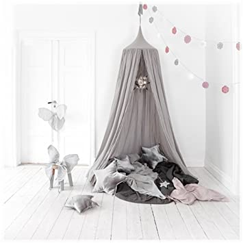 Bed Canopies for Kids Dormitory Bed Curtain - 100% Cotton Dome Princess Mosquito Net Canopy & Amazon.com: Bed Canopies for Kids Dormitory Bed Curtain - 100 ...