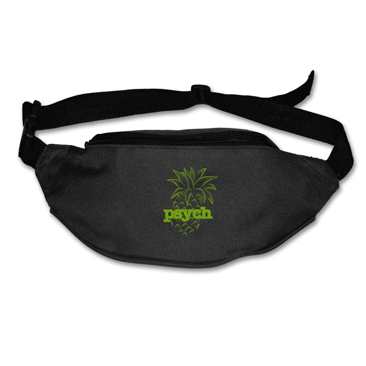 Psych Pineapple Sport Waist Bag Fanny Pack Adjustable For Run