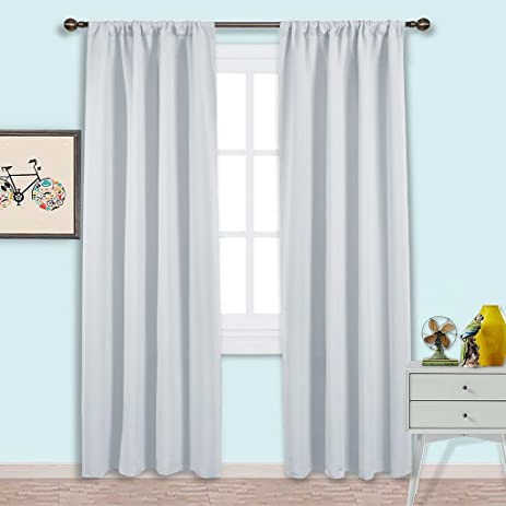 NICETOWN Kitchen Room Darkening Curtains   Window Treatment Thermal  Insulated Rod Pocket Room Darkenining Curtains /