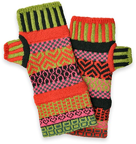 Solmate Socks, Mismatched Fingerless Mittens Gloves Made in the USA, Combo Dragonheart Vermont (Weather In Vermont Usa)