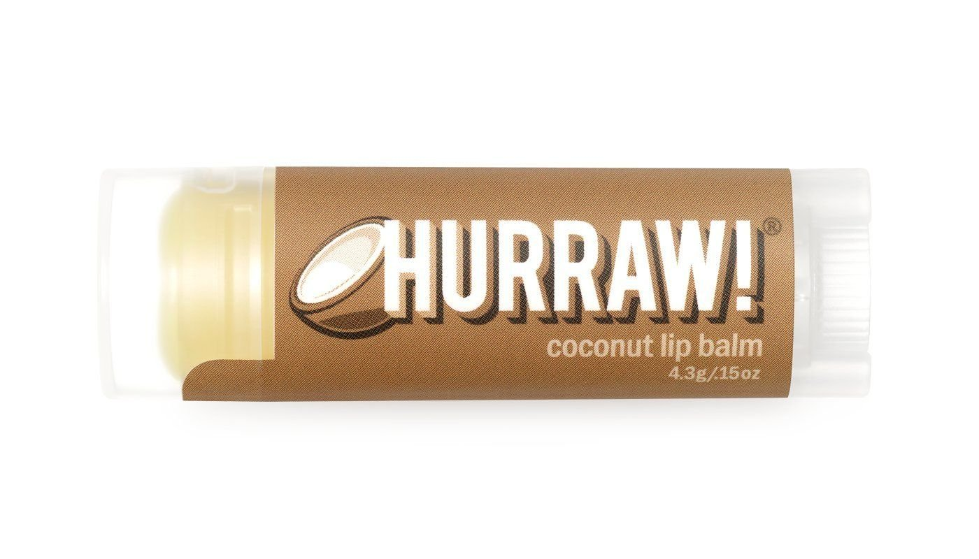 Coconut Lip Balm - Hurraw Balm - 4.3gm 0837654700587