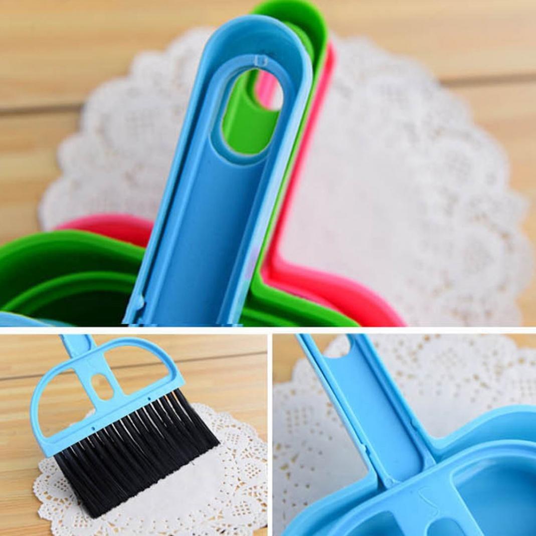 Little rock Mini Plastic Dustpan Brush and Brush Desk Cleaning Sweeper Dust Pan Set by Little rock (Image #4)