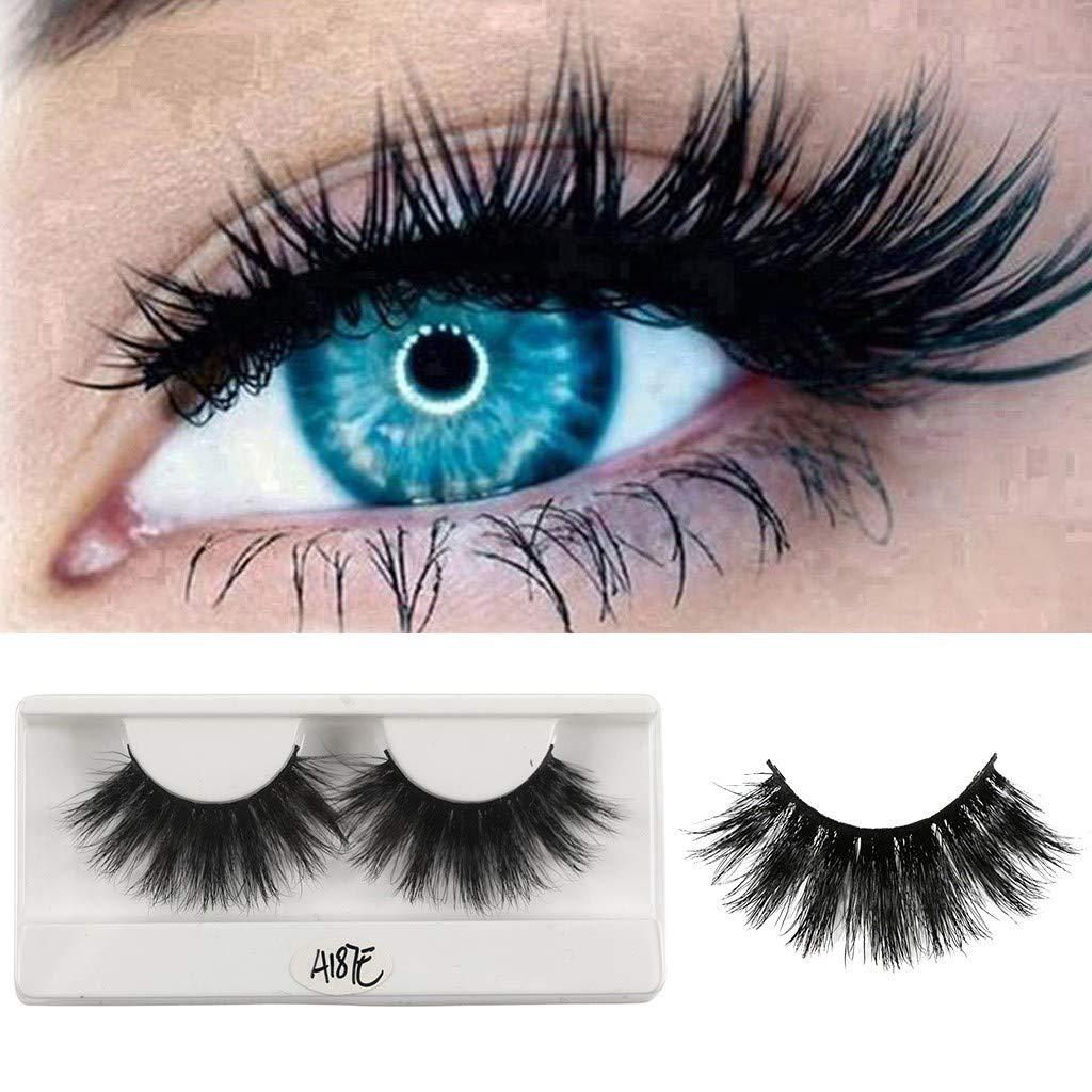 974db9e0929 Amazon.com : Ktyssp 1 Pairs False Eyelash 25mm 3D Mink Dramatic Makeup With  Long Eyelash False Eyelashes : Beauty