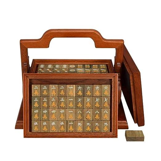 Mah Jong Viaje Juego de Mesa Juego de Mahjong Chino Conjunto Chino ...
