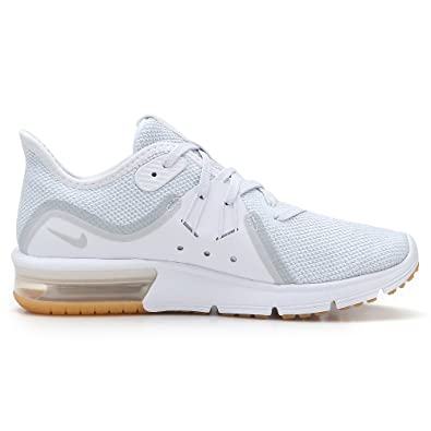 930dee7141 Nike Women's WMNS AIR MAX Sequent 3 Competition Running Shoes, (White/Pure  Platinum