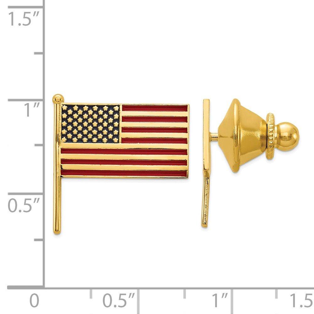 Mia Diamonds 14K Yellow Gold Enameled Flag Tie Tac