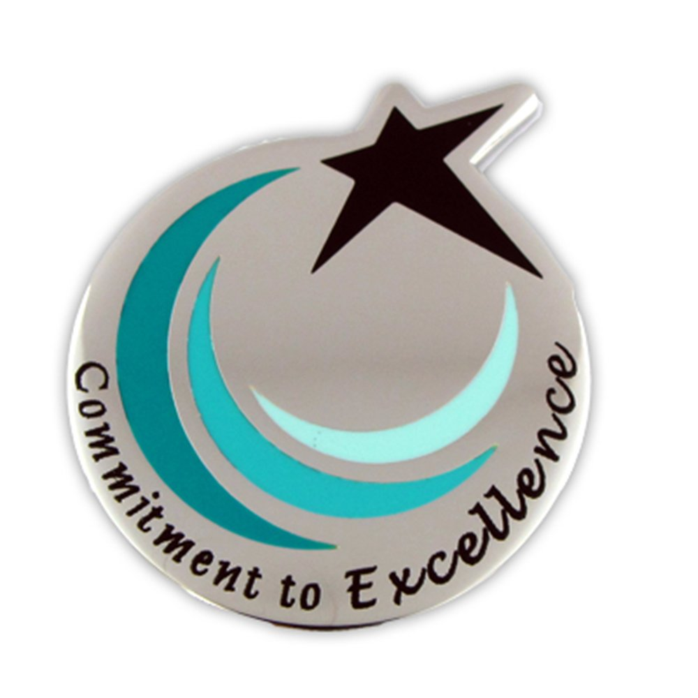 PinMart's Commitment To Excellence Recognition Service Star Lapel Pin