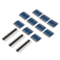 XCSOURCE 10Pcs 3V - 5V 4-Way Bi-Directional Level Converter Module Uart I2C Iic Spi Board With 6-Pin Header For Arduino