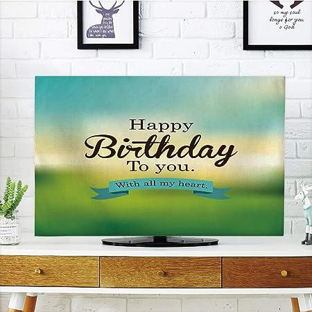 iprint LCD TV Cubierta de Polvo, Decoraciones de cumpleaños, diseño de cómic Pop Art con Letras de explosión Efecto explosión, Lunares, diseño de impresión 3D Compatible con TV de 32 Pulgadas: Amazon.es: