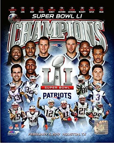 New England Patriots Super Bowl LI Champions Team Composite Photo (Size: 8