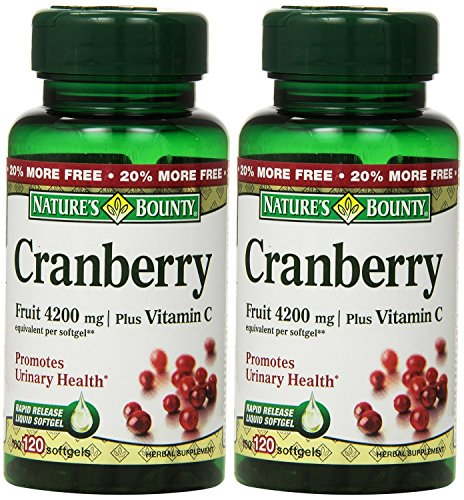Natures Bounty Cranberry Vitamin Softgels