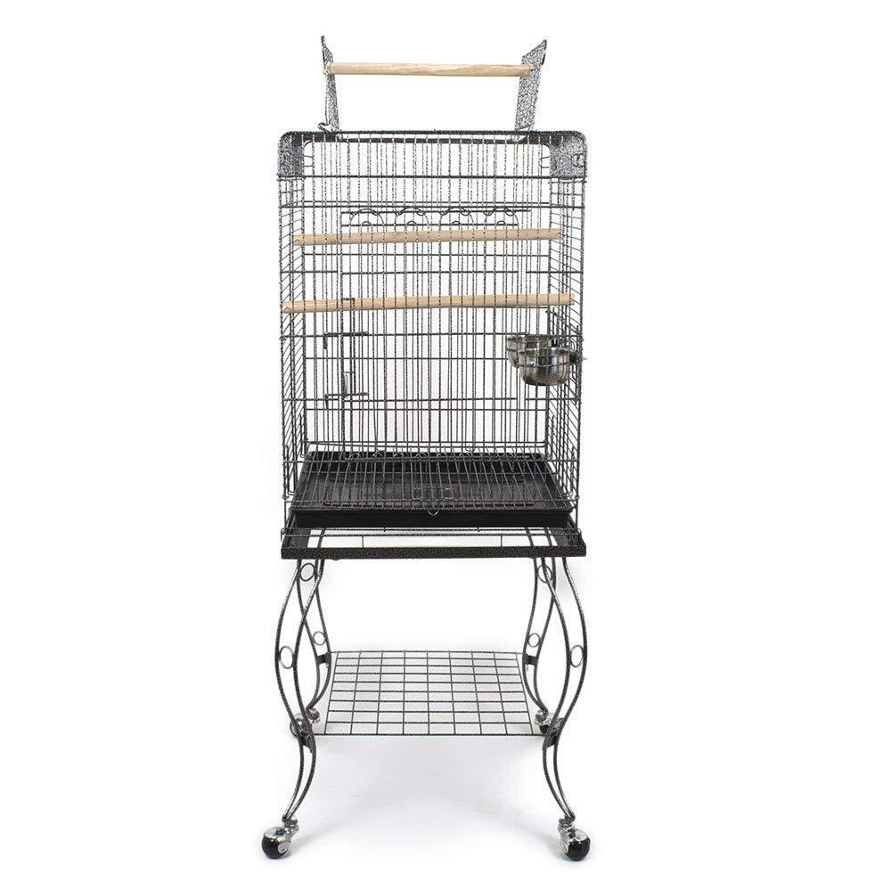 Pet's Solution Gabbia per pappagalli con Carrello 51x50x146h cm