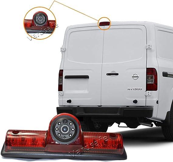 Brake Light Reverse Backup Camera Replacement Rear View Mirror Monitor for Nissan NV 1500 2500 3500 Van Vardsafe VS503R