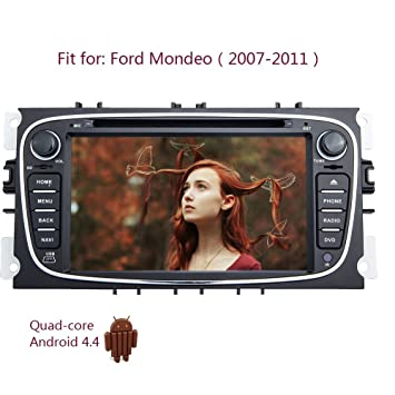 Android 4.4 GPS Map Antenna Capacitive Multi-Touch Screen Audio Video Black  Car DVD Player c66fc2ec5626