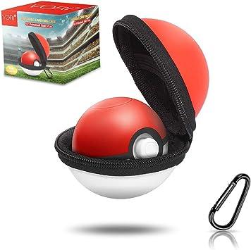Funda para Pokeball Plus, funda de transporte portátil VORI para Nintendo Pokemon Plus Switch Controller, bolsa de almacenamiento rígida protectora con mosquetón desmontable para Pokémon Lets Go Pikachu Eevee Controller: Amazon.es: Electrónica